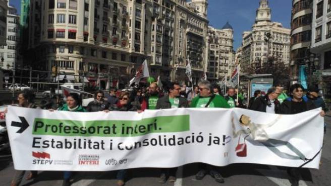 La marcha ha recorrido el centro hasta el Palau de la Generalitat