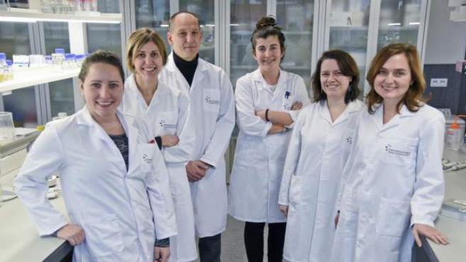 Equipo investigador de la UPNA en Navarrabiomed