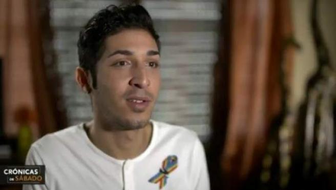 Casiano, superviviente de la masacre del Pulse, entrevistado en el programa de Univisión.