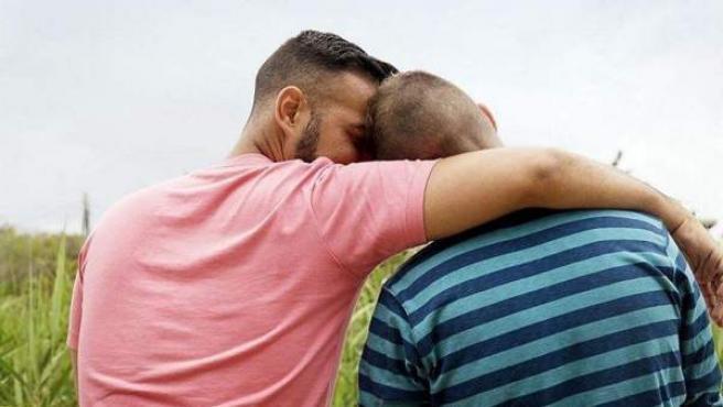 Imagen de una pareja gay.