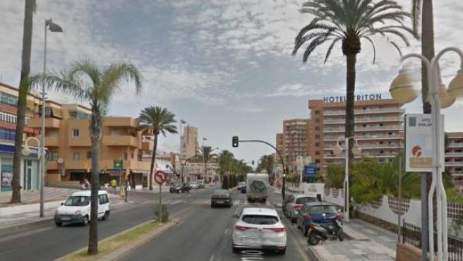 Imagen de la zona de Benalmádena cercana al hotel Tritón.