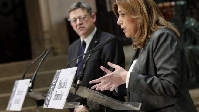 Ximo Puig y Susana Díaz.