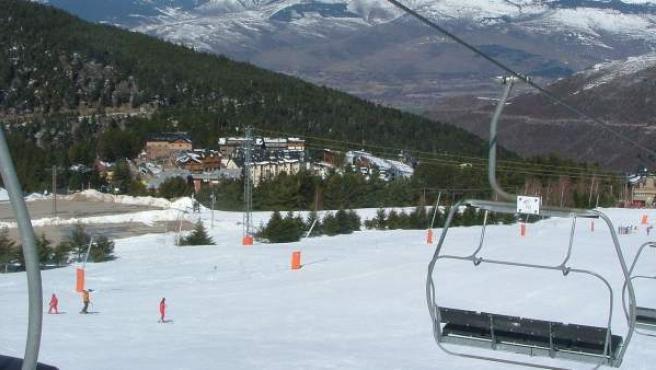 Una imagen de la estación de esquí de La Molina, en Alp, Girona.