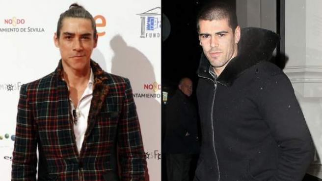 El actor Óscar Jaenada (izquierda) y el futbolista Víctor Valdés (derecha), en dos imágenes recientes.