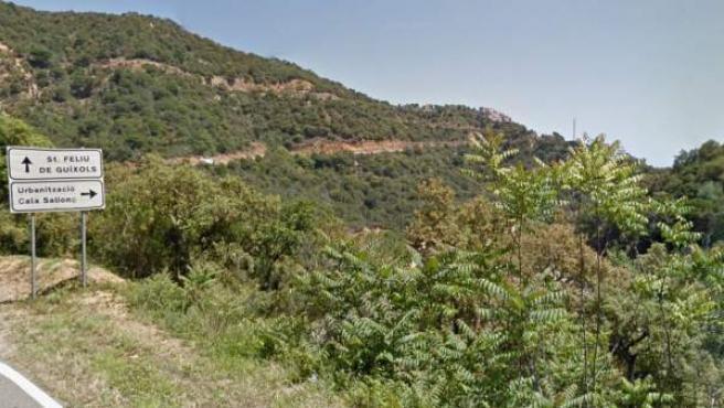 Zona boscosa de cala Salionç, en Tossa de Mar.