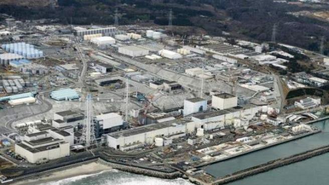 Una imagen aérea de Fukushima.