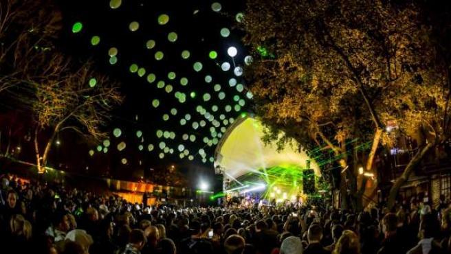 Uno de los escenarios del festival SXSW en Austin, Texas.
