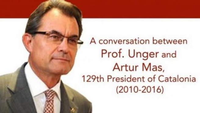 Artur Mas, en el cartel de la Harvard Law School.