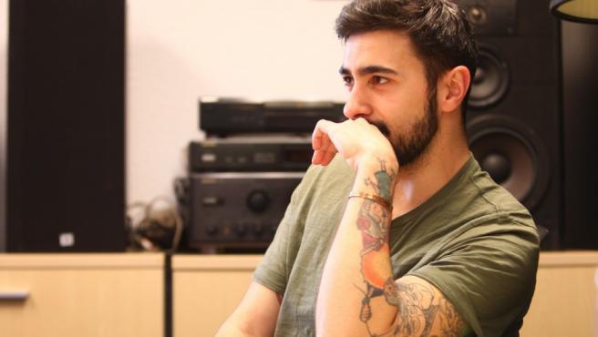 El rapero Rayden durante una entrevista con 20minutos.