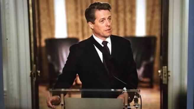 Hugh Grant, en una de las primeras imágenes de la secuela de 'Love Actually'.
