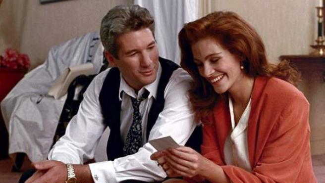 Richard Gere y Julia Roberts, en una escena de la película.