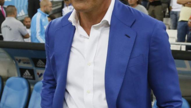 El entrenador español Míchel, antes de un partido cuando dirigía al Olympique de Marsella.