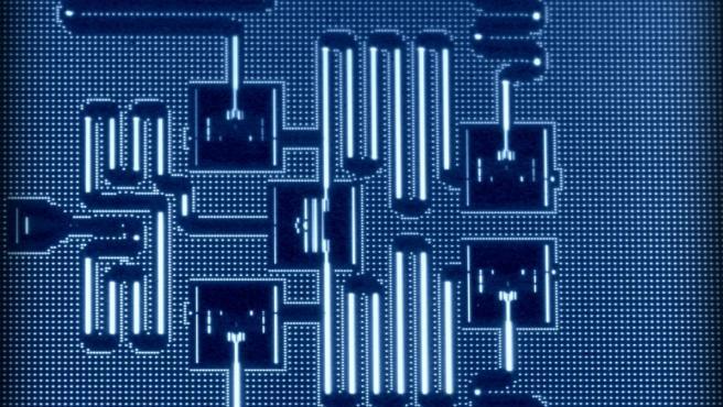 Un procesador cuántico de 5 qubits.
