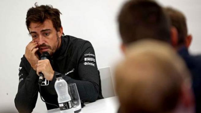 Fernando Alonso, muy sincero en la rueda de prensa que ha concedido en el circuito de Montmeló.