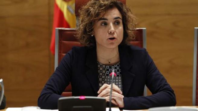 La ministra de Sanidad, Dolors Montserrat, comparece en el Senado.