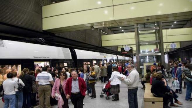 Imagen de una estación de Metrovalencia