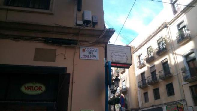 El carrer del Negre Lloma, una de les canviades el desembre passat