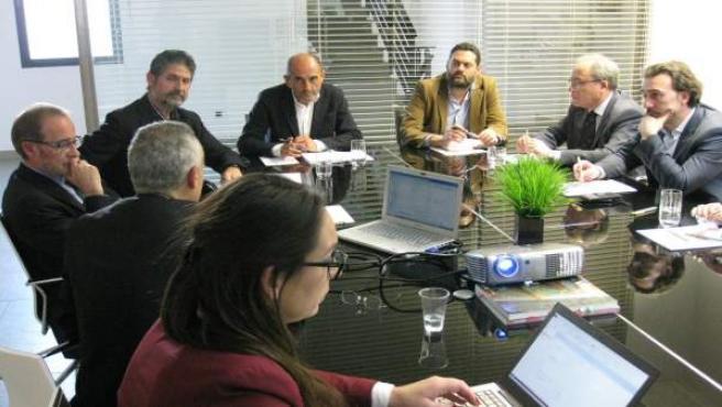 Un momento de la reunión en Montilla