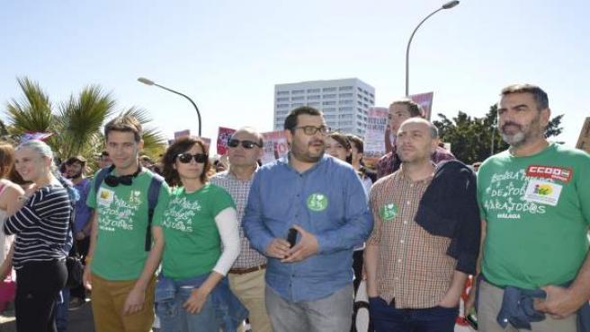 Izquierda Unida Manifestación educación Guzmán Ahumada