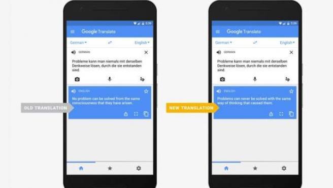 Google mejora sus traducciones.
