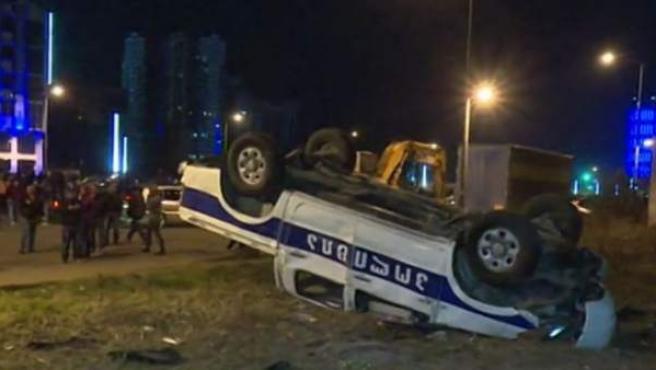 Imagen de los disturbios en Georgia por culpa de una multa de tráfico.