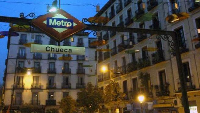 La Plaza de Chueca, en el barrio madrileño del mismo nombre.