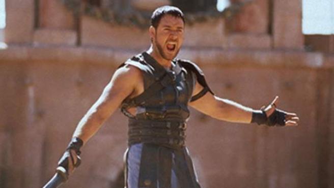 El actor Russell Crowe en 'Gladiator'.