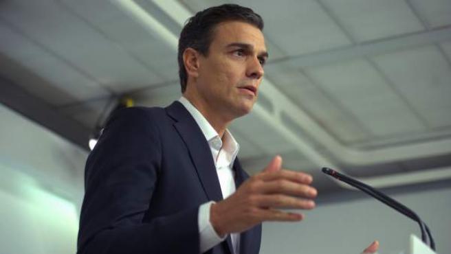 Pedro Sánchez, en Ferraz, en una imagen de archivo.