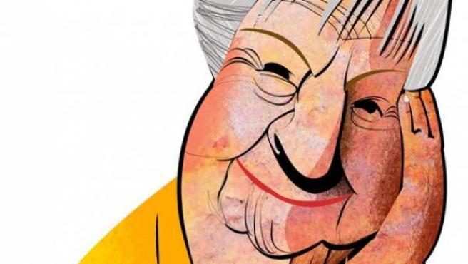 Caricatura de la poeta Gloria Fuertes, que cumpliría 100 años en julio.