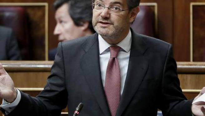 El ministro de Justicia, Rafael Catalá, durante una intervención en el Congreso de los Diputados.