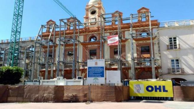 Obras en la Plaza Vieja de Almería