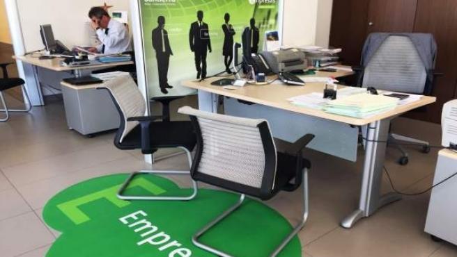 Uno de los centros de empresa instalados en las oficinas de Bantierra