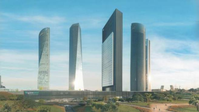 Recreación de la nueva torre del Paseo de la Castellana, que se llamará Caleido.