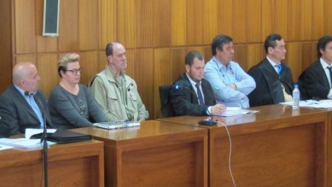 Imagen del banquillo de los acusados del caso Visser
