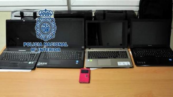 Material recuperado por la Policía