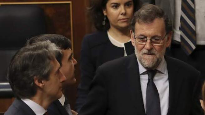 Rajoy, en el Congreso durante el debate de la estiba.