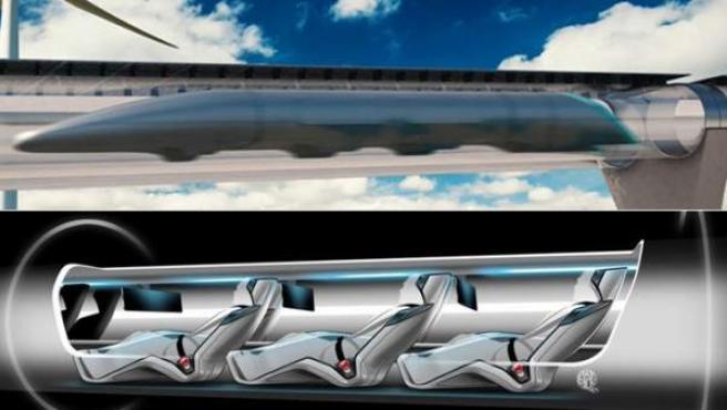 Diseños sobre cómo sería Hyperloop.