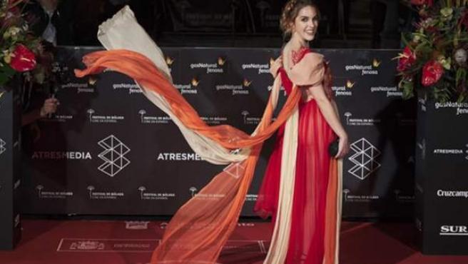 La actriz Amarna Miller en la alfombra roja del Festival de Cine de Málaga.