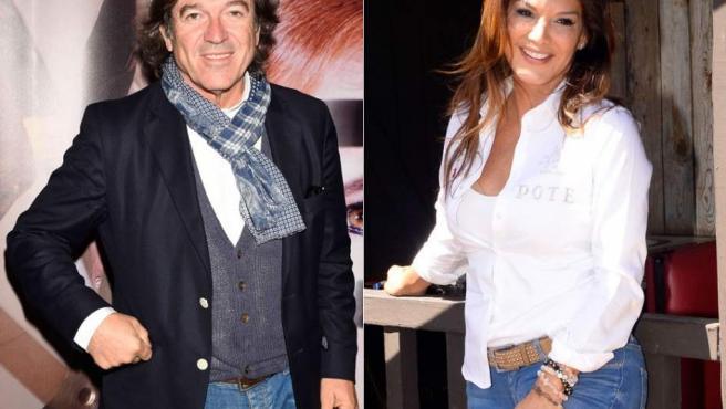 Combo de fotografías del periodista Pepe Navarro y la presentadora y actriz Ivonne Reyes.