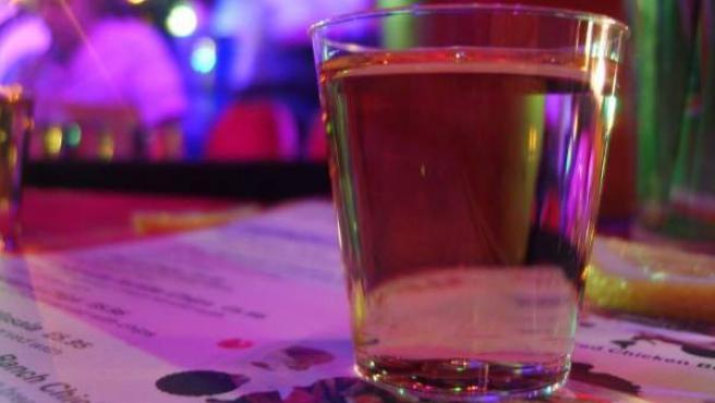 Un chupito de tequila.