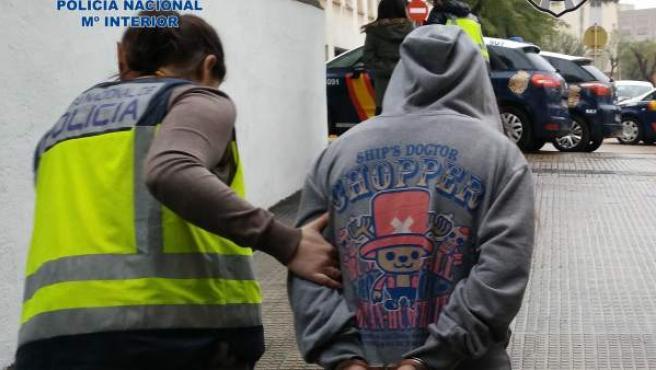 Imagen de una operación contra la explotación sexual en Tarragona el pasado mes de marzo.