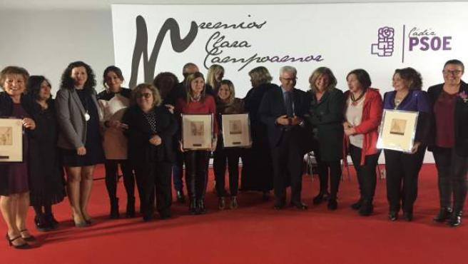 El PSOE de Cádiz entrega los Premios Clara Campoamor