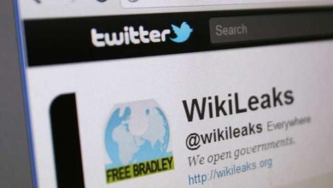 Perfil de Wikileaks en Twitter.