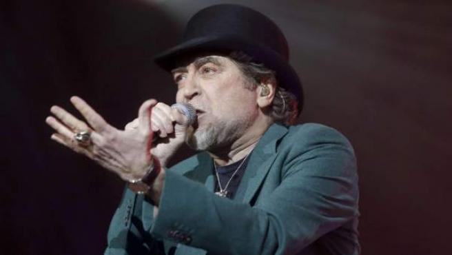 El cantante Joaquín Sabina durante un concierto.