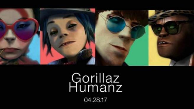 Cartel de anuncio del nuevo disco de Gorillaz, 'Humanz'.