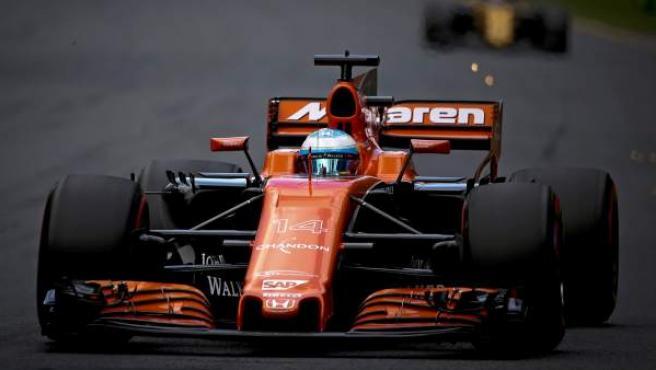 El McLaren de Fernando Alonso en el GP de Australia.
