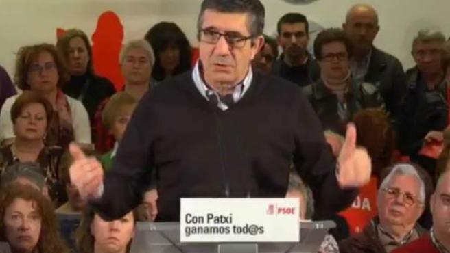 Patxi López, en Torrelavega, Cantabria.