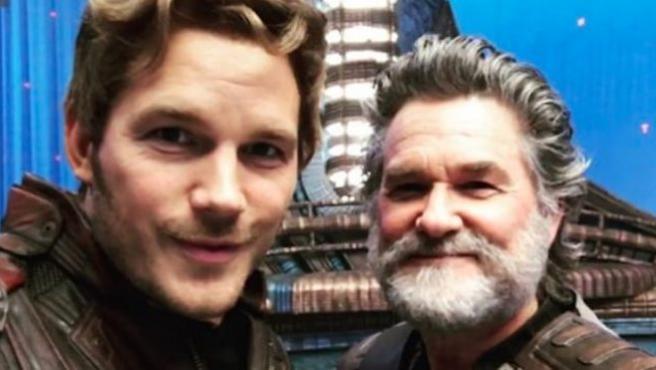 'Guardianes de la galaxia Vol. 2': Kurt Russell y Chris Pratt, contra la risa floja