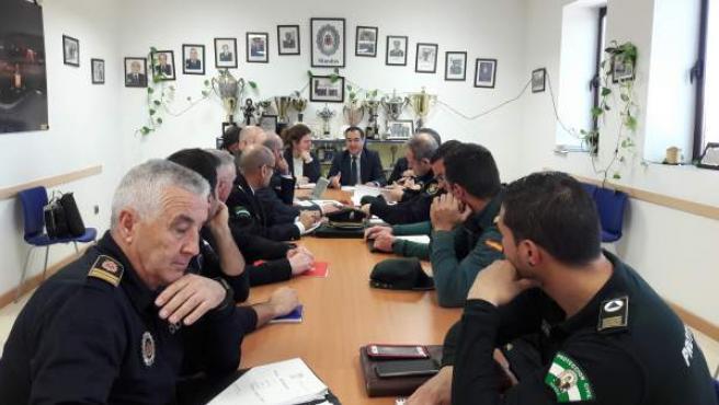 Junta local de seguridad en Ronda