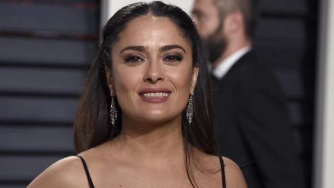 La actriz mexicana Salma Hayek, en una de las fiestas celebradas tras la gala de los Óscars, el pasado mes de febrero en Los Ángeles, California (EE UU).